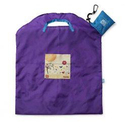 onya reusable shopping bag large purple garden