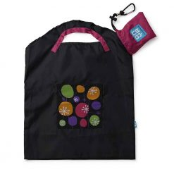 onya reusable shopping bag black retro small