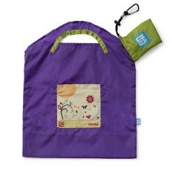 onya reusable shopping bag purple garden small