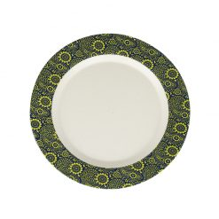 ecosoulife bamboo side plate 20cm paisley